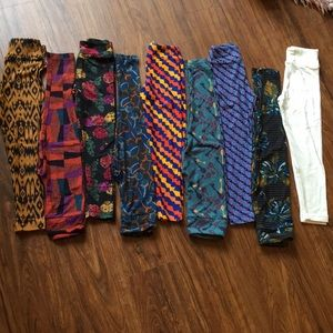 Lot of 9 Lularoe leggings, girls s/m , NWOT